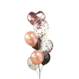 Confetty Metallic Latex Balloon