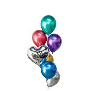 Dino Chrome Latex Balloon