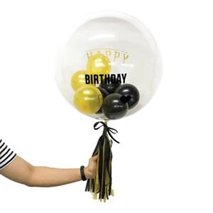 "Gold Ameera 24"" Bubble Balloon"