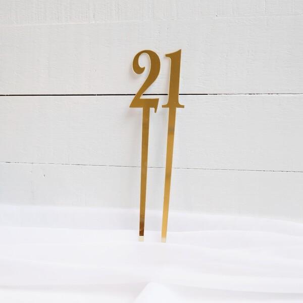 21 Birthday Topper