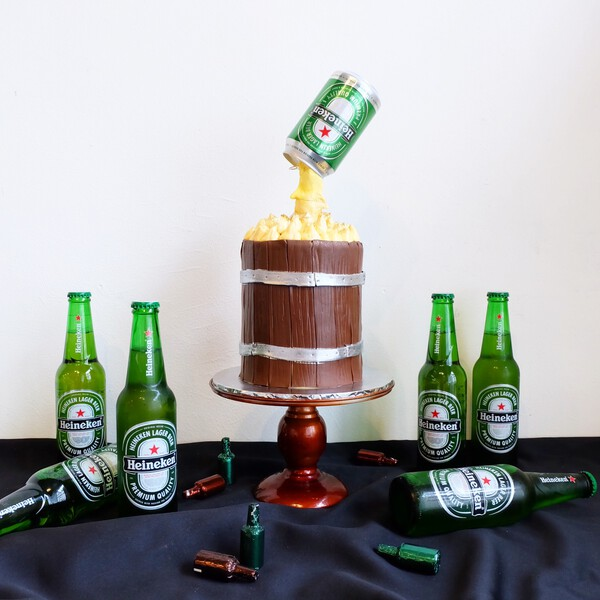 Heineken Alcohol Party Cake