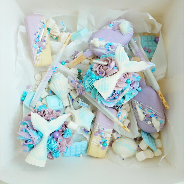 Periwinkle Mermaid Dessert Treat Box